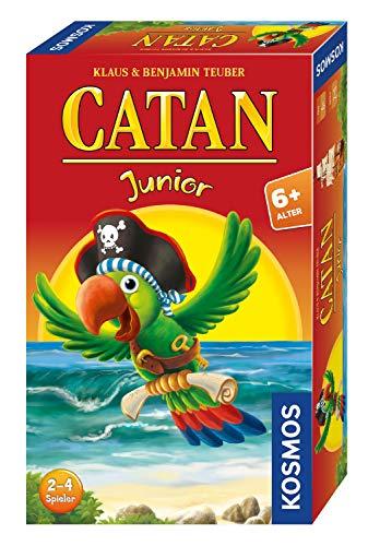 Kosmos 711474 - CATAN Junior Mitbringspiel, kompaktes Brettspiel für Kinder ab 6 Jahren, Strategiespiel für...
