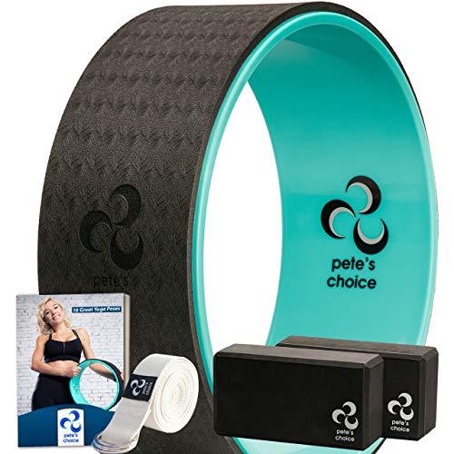 pete's choice Yoga-Set für Anfänger – Fitness Set mit Yoga-Rad, 2 Yoga-Blöcken, Zusätzlichem eBook und...