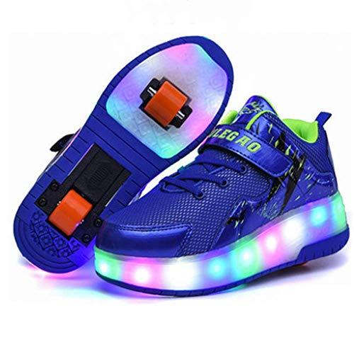 IDE Play 2020 LED-Streifen Roller Skate Schuhe mit Rad automatisch versenkbare Skateboarden...