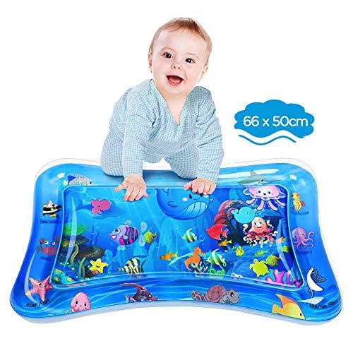 Dusor Wassermatte Baby, Wasserspielmatte BPA-frei, Baby Spielzeug 3 6 9 Monate, Aufblasbare Bauchzeit Matte,...
