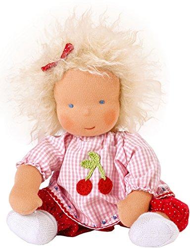 Käthe Kruse 38025 - Waldorfpuppe Baby Mia 33 cm, rosa/rot