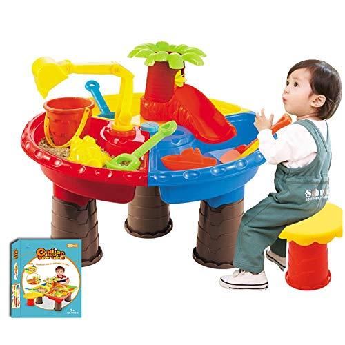Kinder Wasserspiel Tisch Spieltisch Sand And Water Sandkastentisch Wassertisch Kinder Mit 9-teiligem...