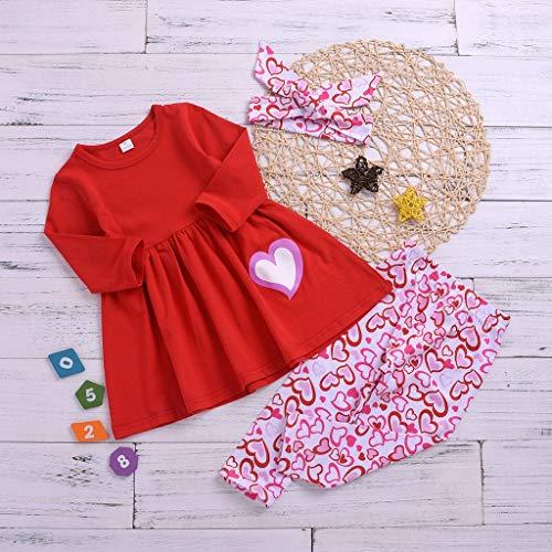 VICKY-HOHO Günstige Kinderbekleidung Sommer, 3-4 Jahre Kleinkind Kinder Baby Mädchen Valentinstag...