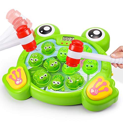 Teaisiy Spielzeug 1-6 Jahr, FroschSpielzeug Hammerspiel für Kinder ab 3-8 Jahre Weihnachts Geschenke für...