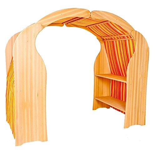 Holzspielzeug-Peitz Kinder-Spielständer 1020N - Spielhaus - Buchen-Holz - Kaufladen - Spielküche