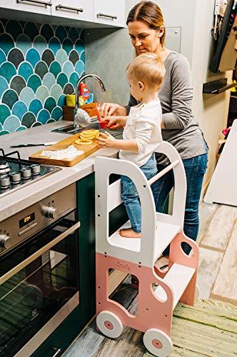 Montessori Küchenhelfer, kann sehr leicht in Tisch und/oder Stuhl transformiert werden