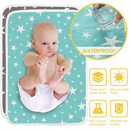 HyAdierTech 2 X Wasserdicht Wickelunterlage für Babys und Kleinkinder, Waschbar Inkontinenzauflage...
