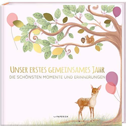 Babyalbum - UNSER ERSTES GEMEINSAMES JAHR (rosé): Die schönsten Momente und Erinnerungen - Erinnerungsalbum...