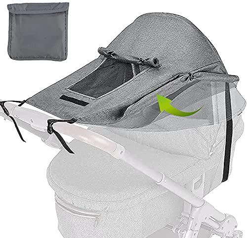 Universal Kinderwagen Sonnensegel mit UV Schutz 50+ und Wasserdicht,Sichtfenster und Extra Breite...