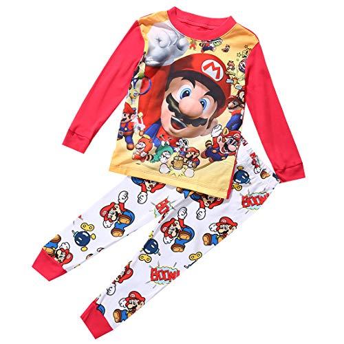 Cartoon Super Mario Baby Kinder Mädchen Jungen Freizeitkleidung Set Nachtwäsche Schlafanzug Baby Jungen...