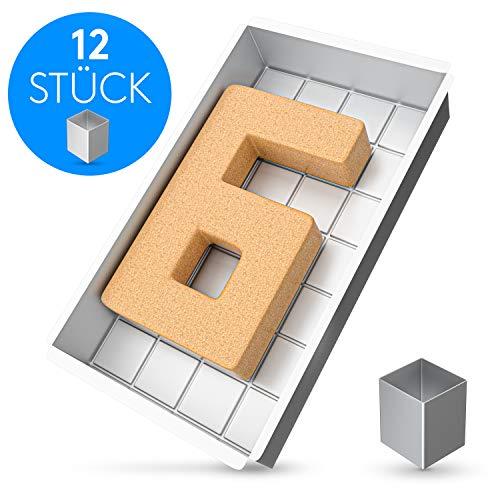 EDELHAND© Zahlen Backform aus Aluminium mit Antihaftbeschichtung - Zahlen und Buchstaben Kuchenform für den...