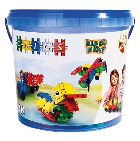Clics Konstruktionsspielzeug für Kinder ab 3 Jahre, kreatives Lernspielzeug im 160 Teile Set, Bausteine für...