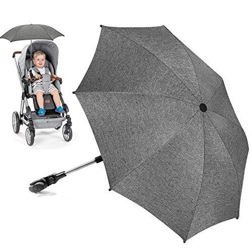 Sonnenschirm Kinderwagen Universal, UV Schutz SPF 50+ Sonnenschutz Kinderwagen, Flexibler Sonnenschirm mit...