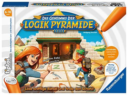 Ravensburger tiptoi Spiel 00042 Das Geheimnis der Logik-Pyramide - Lernspiel ab 6 Jahren, Logikspiel für...