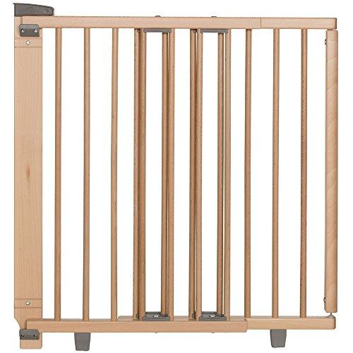 Geuther - Treppenschutzgitter ausziehbar 2734+, für Kinder/Hunde, Türschutzgitter zum bohren, Holz, 86 - 133...