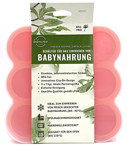Behälter   Gefrierform zum Einfrieren und Aufbewahren von Babynahrung   Babykost   Babybrei   9 x 75ml,...