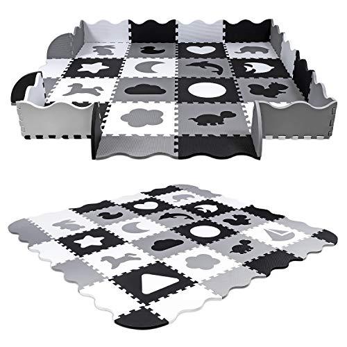 Unterlegmatte Spielmatte Puzzlematte Eva 52-TLG Puzzle Spielteppich Kinderteppich Schutzmatte...