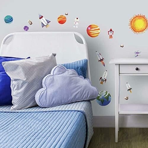 RoomMates - Wandsticker Kunterbuntes Weltall 35 Stück