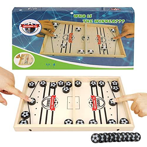 colmanda Brettspiel Hockey, Fast Sling Puck Game, Katapult Brettspiel, Tisch Hockey Brettspiel Portable Board...
