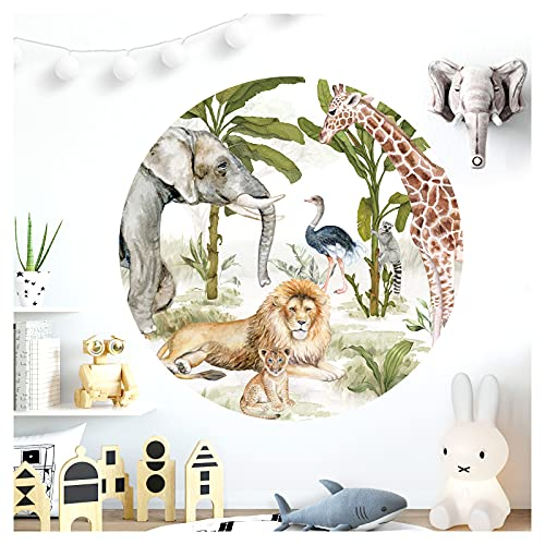 Little Deco Wandtattoo Wandaufkleber Wandsticker Kinderzimmer Tiere Wald Löwe Giraffe Wanddeko Mädchen Junge...