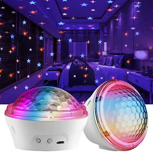 LED Sternenlicht Projektor,Petrichor Projektor Sternenhimmel Lampe Kinder Nachtlicht Baby Sterne Lampe,USB...