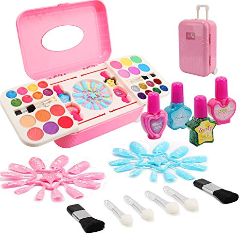 Ulikey Kinderschminke Mädchen Set, Makeup Set für Kinder, Waschbar Schminkset Spielzeug, Mädchen...