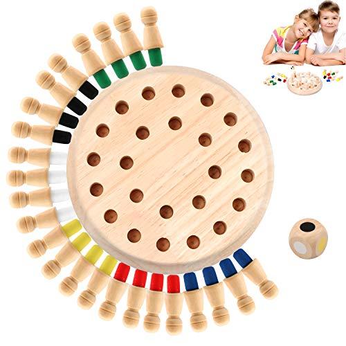 Hoiny Holz Memory Match Stick Schach Spielzeug, 1 Set Family Brettspiele Hölzerne...