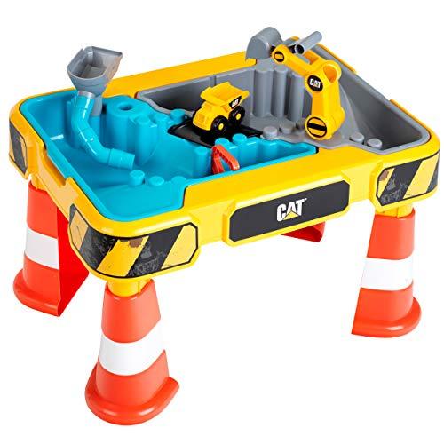 Theo Klein 3242 3237 CAT Sand- und Wasserspieltisch I Mit Baggerarm, Kipper, 2 Rohren, Stoppern und...