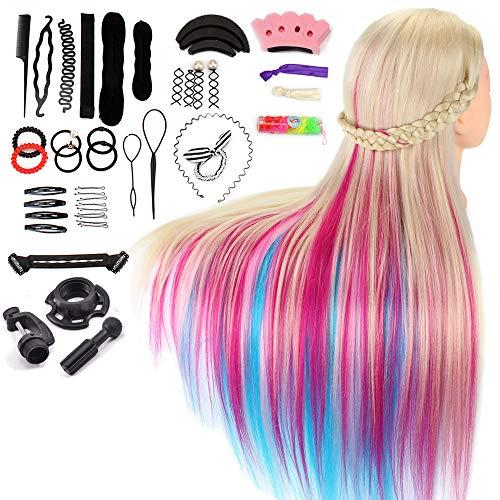 Trainingsköpfe für Friseure Neverland Übungskopf Frisierkopf Friseur 26-28' 100% Synthetischem Haar...