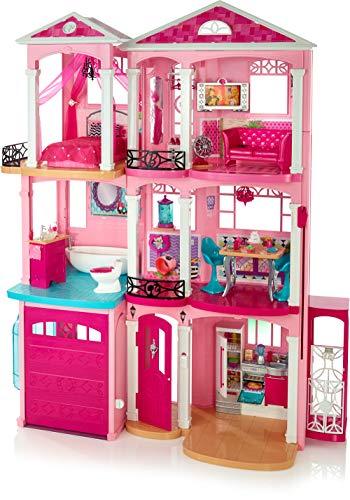 Barbie FFY84 - Traumvilla Puppenhaus mit 7 Zimmer, Garage und Zubehör, mit Lichter und Geräuschen, ca. 115...