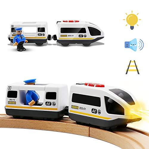 Tiny Land Batteriebetriebener Lokomotivzug (Magnetanschluss) - Leistungsstarker Motor-Hochgeschwindigkeitszug...