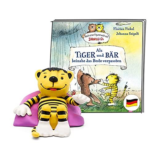 tonies Hörfigur für Toniebox, Janosch – Als Tiger und Bär beinahe das Beste verpassten, Hörspiel für...