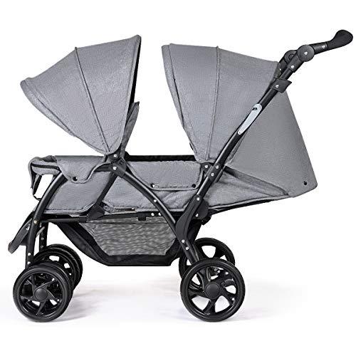 DREAMADE Doppel Kinderwagen Geschwisterwagen Faltbar, Zwillingswagen Puppenwagen, Kinderwagen Babywagen mit...