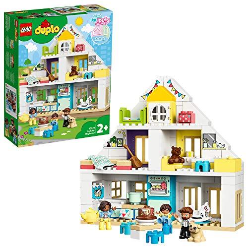 Lego 10929 DUPLO Unser Wohnhaus 3-in-1 Set, Puppenhaus für Mädchen und Jungen ab 2 Jahren mit Figuren und...