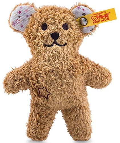 Steiff Mini Knister-Teddybär mit Rassel - 11 cm - Teddybär mit Rassel - Kuscheltier für Babys - weich &...
