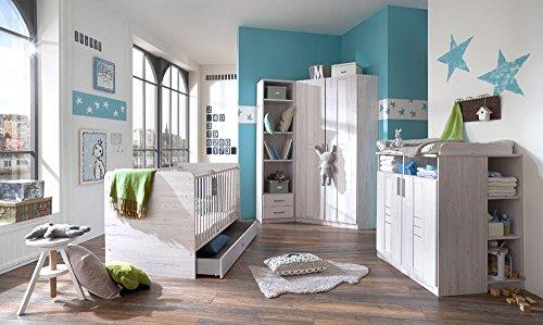 lifestyle4living Babyzimmer, Kinderzimmer, Komplett-Set, Babymöbel, Junge, Mädchen, Kleiderschrank,...