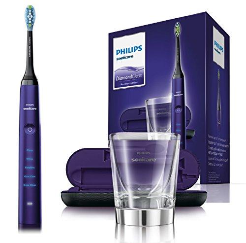 Philips Sonicare DiamondClean Elektrische Zahnbürste HX9379/89 - Schallzahnbürste mit 5 Putzprogrammen,...