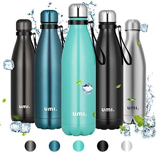 Amazon Brand – Umi Trinkflasche Edelstahl, 750ml Vakuum Isolierte Thermosflasche, BPA Frei Wasserflasche...