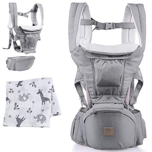 Belly Boon Babytrage für Neugeborene ab Geburt - bequeme Baby Trage aus hochwertiger Baumwolle mit flexiblem...