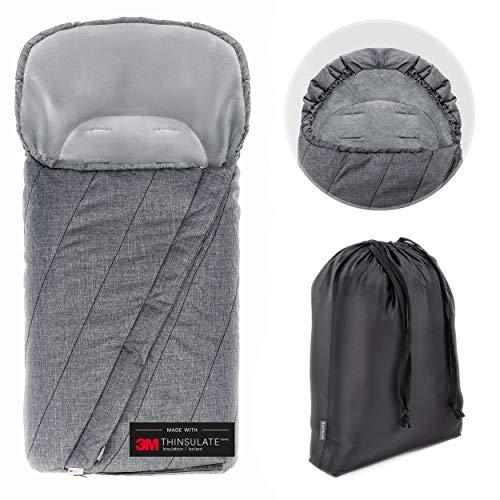 Zamboo Winter Fußsack 3M für Kinderwagen & Buggy - Winterfußsack mit warmer Thinsulate Füllung,...