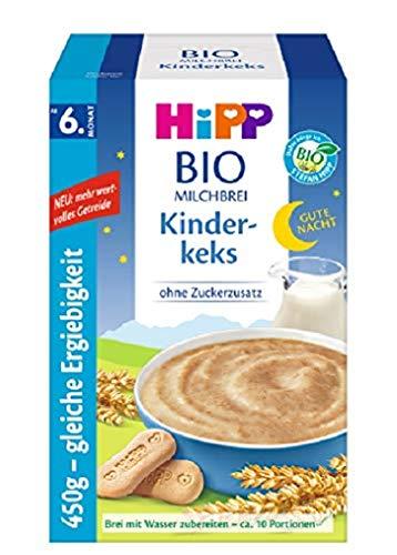 Hipp Bio-Milchbreie ohne Zuckerzusatz-Vorratspackung, ab 6. Monat, Gute-Nacht-Brei Kinderkeks, 4er Pack (4 x...