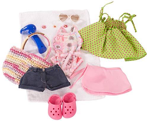 Götz 3401754 Kombination Sommerspaß - Puppenbekleidung Gr. XL - 10-teiliges Bekleidungs- und Zubehörset...