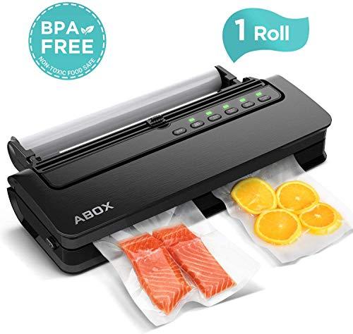 ABOX Vakuumiergerät 5 in 1 Vakuumierer Automatisch mit Cutter für trockene und feuchte Lebensmittel, inkl....