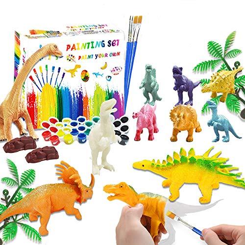 Goorder Dino Anmalen & Malset für Kinder, 3D DIY Dinosaurier Spielzeug ab 4 5 6 7 8 Jahre, 47 Stück...
