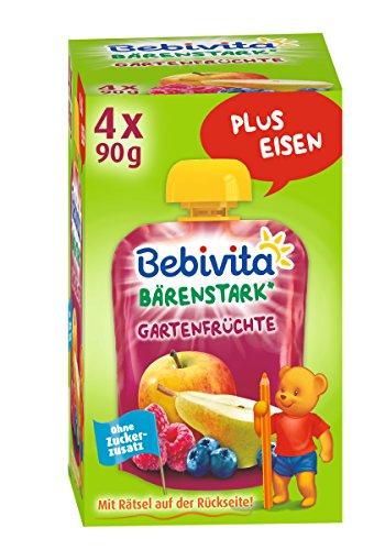 Bebivita Gartenfrüchte, 4er Pack ( 4 x 4 x 90 g )