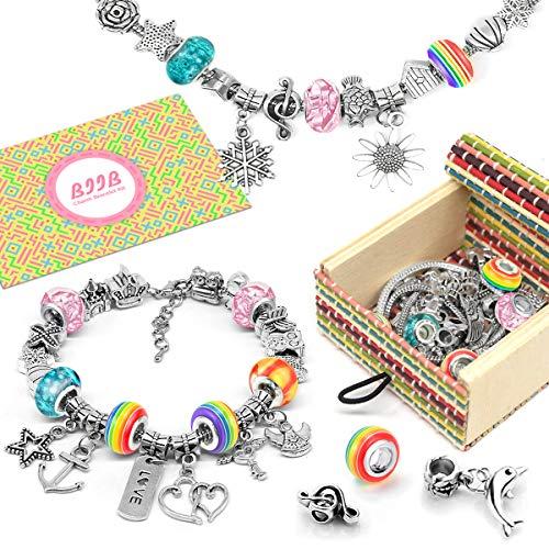 BIIB Charm Armband Kit DIY - Geschenke für Mädchen Teens, 2021 Kleine Geschenke für Kinder, Schmuck...