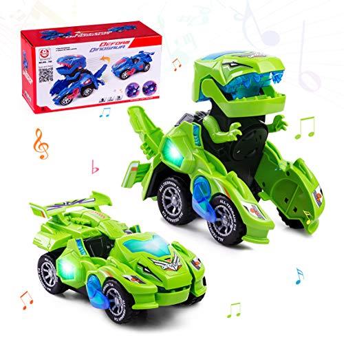 Highttoy Verformung Dinosaurier Spielzeug für 3-7 jährige Jungen Mädchen,Automatisch Verwandelndes...