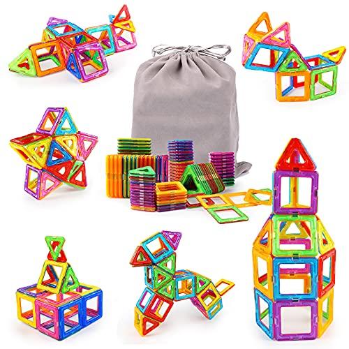 KIDCHEER Magnetische Bausteine Kinder 64 Teile Magnetic Bauklötze 3D Bausteine Lernspielzeug Magnet Spielzeug...