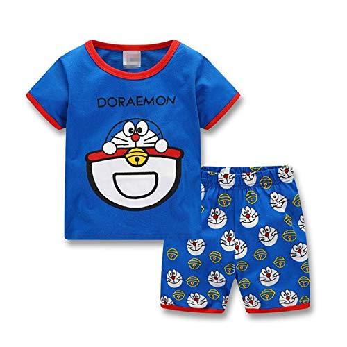 Lovely Summer Doraemon Kinderbekleidung, kurzärmeliges Oberteil + Shorts, Schlafanzug für Kinder von 2–7...
