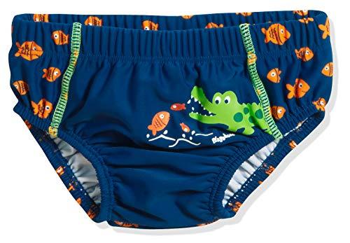 Playshoes Baby-Jungen UV-Schutz Windelhose Krokodil Schwimmwindel, Blau (Marine 11), 86 (Herstellergröße:...